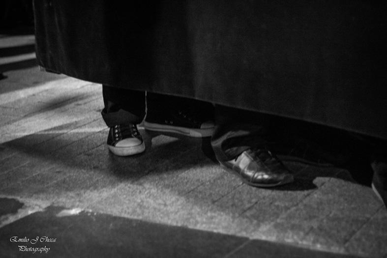 Rezando con los pies