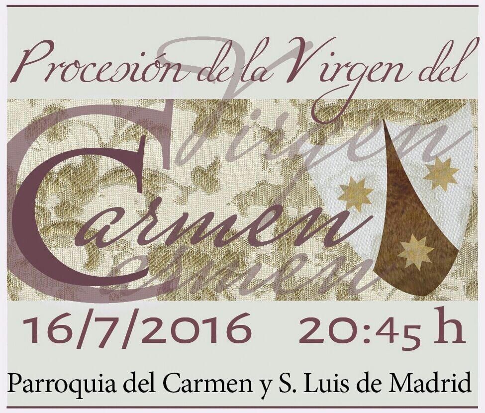 procesion del carmen 2016
